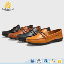 Wholesale OEM 2016 Grain Cowhide Leather Moccasin Boat Shoes Mens Loafers shoes