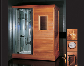 Finnish Sauna Room With Steam Shower (DS201F3)