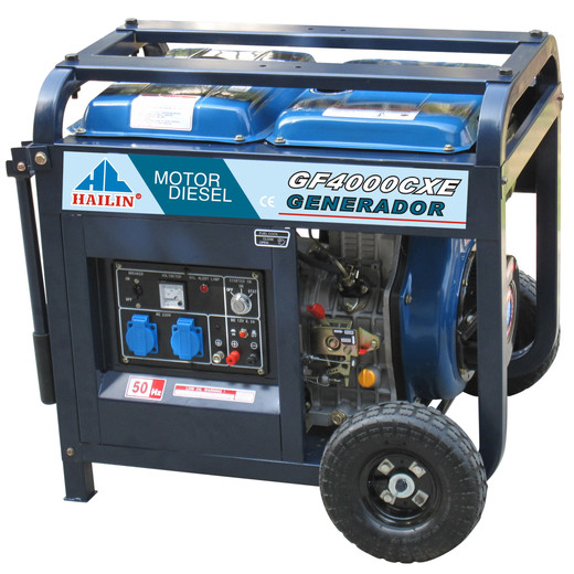 Air-cooled 3 Phase, 1Phase Open Type Honda 5kva Diesel Generator