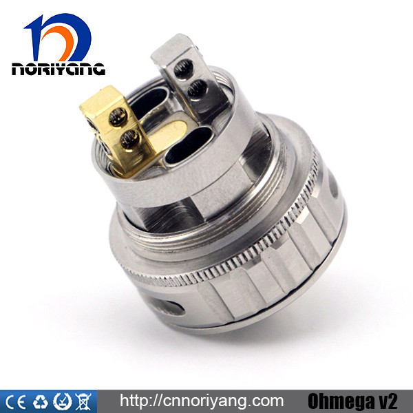 Noriyang New E-cig ohmega V2 rba wholesale from noriyang, airflow/juice control 304 stainless steel tasty and big vapor