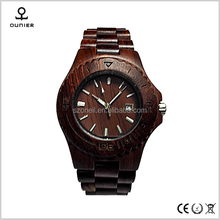 Hot selling style handmade wooden watches wood pocket watch with wood face