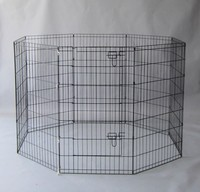 8 Panels Light Duty Dog Puppy Cat Rabbit Exercise Fence Pen Exercise Pet Playpen