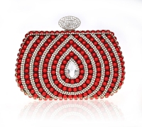 Shiny Crystal Purse Elegant lady's Pearl beaded Clutch Bag for Evening party