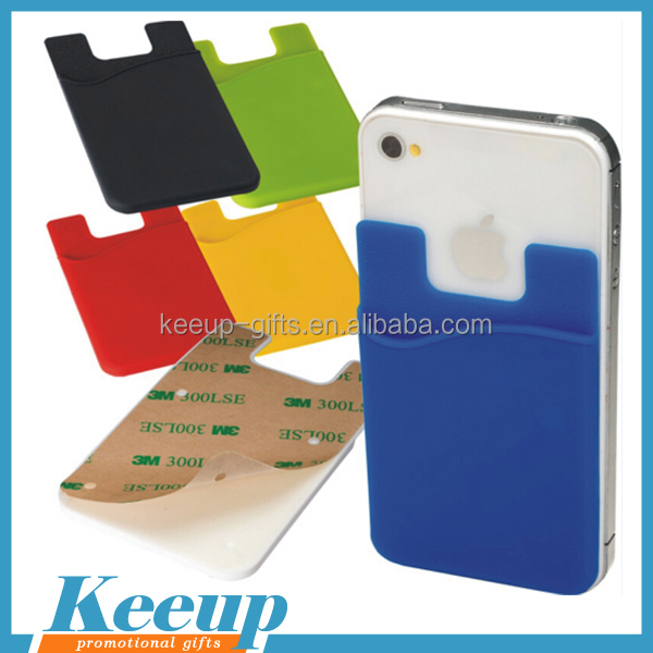 Useful Silicone Cell Phone Sticker Card Holder Smartphone Wallet