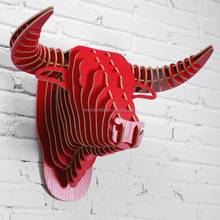 Europe style bedroom decor bull head MDF 3d wall decor
