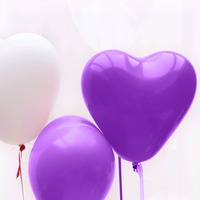 mini quantity reach EN 71 certification heart shaped balloon for wedding decoration balloons