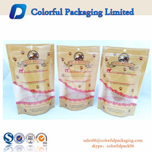 Food grade plastic pouch zipper pet food packaging and pet food bag