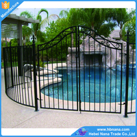 High quality wrought iron gate design / decorative Aluminum gates low price