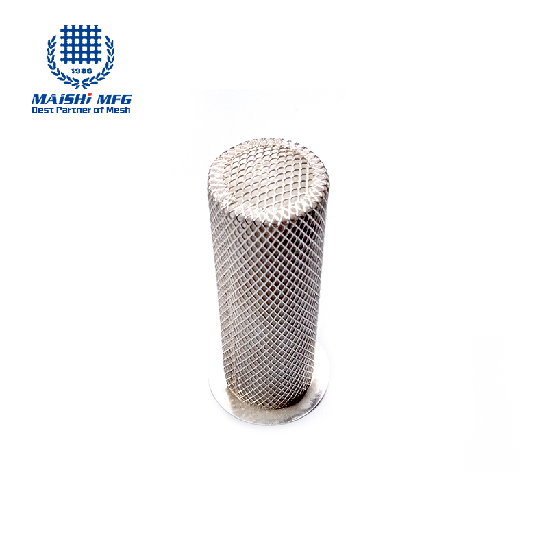 customize 304 stainless steel wire mesh cylinder filter