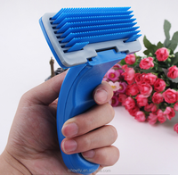pet grooming PP strong blue folding comb