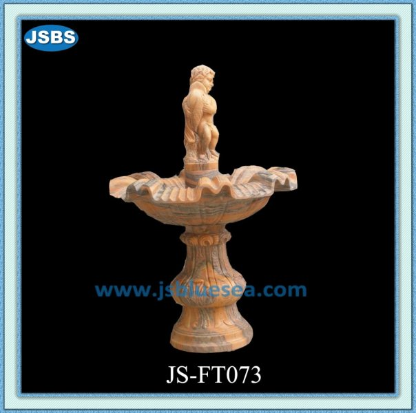 cheap white carved outdoor stone foutain