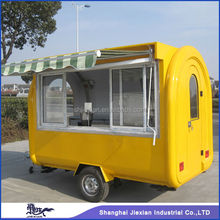 Shanghai Jiexian FR-280H Mobile Food Kiosk/Mobile Coffee Shop with wheels design pizza food cart for sale