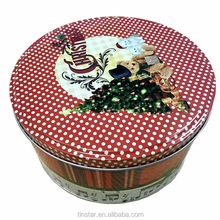 Hight quality professional manufacture christmas cake gift tin box
