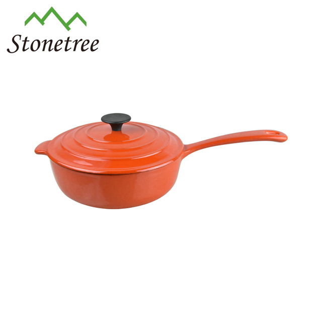 Cast Iron Cooking Pot With Handle/Enameled casserole/Milk Pot