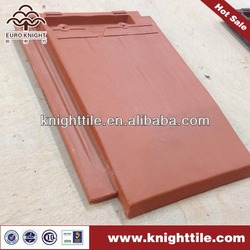 German style flat shingle clay roof tile factory