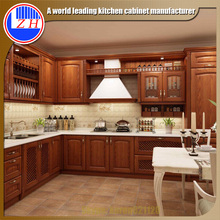 Luxury Modular beech wood custom kitchen remodeling ready to asseble