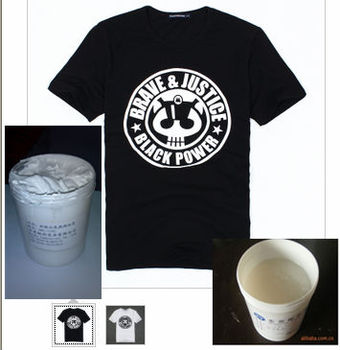 Super white waterbase white clear rubber ink for dark t for Water based t shirt printing