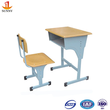 Children metal study desk and table with steel frame