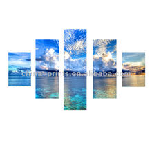 Decorative Multi-Panels Canvas Painting Wall Art Print With Colorful Print