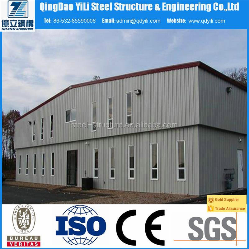 prefab steel structure hall with light frame