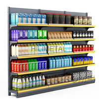 Muti Layers Metal Shelving Racks Supermarket