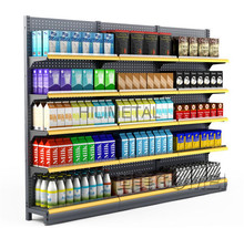 Muti Layers Metal Shelving Racks Supermarket Shelves Floor Stand