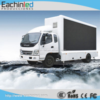Big screen outdoor p8 P10 dual sided led trailer led screen