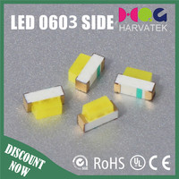 High intensity 1.7*0.6*1.1mm 0603 white right angle smd led