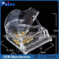 Acrylic piano shape music box