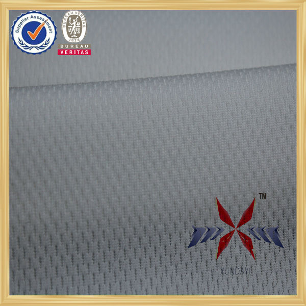 100%polyester white color eyelet fabric with quick dry function