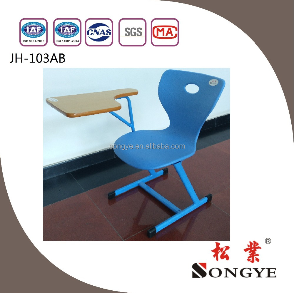 AP school conference chair with writing tablet