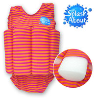 High Quality children swimwear distributor Cute Printed Nylon Elastane UV protection taiwan 1-2y kids floating swimwear