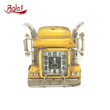 BSCI the most popular iron and paper with glass yellow locomotive islamic prayer time clock for exhibition hall