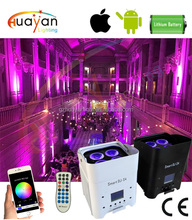 Hot Selling smart stage lighting wifi wireless phone ios android app control led mini up lights with battery powered
