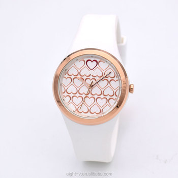 Minimalist Fashion design women wrist watch plastic watch case and strap stainless steel watch bezel inserts