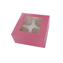 cheap polka dot decorative die cut cupcake cake box