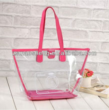Beauty clear plastic beach bag for promotion