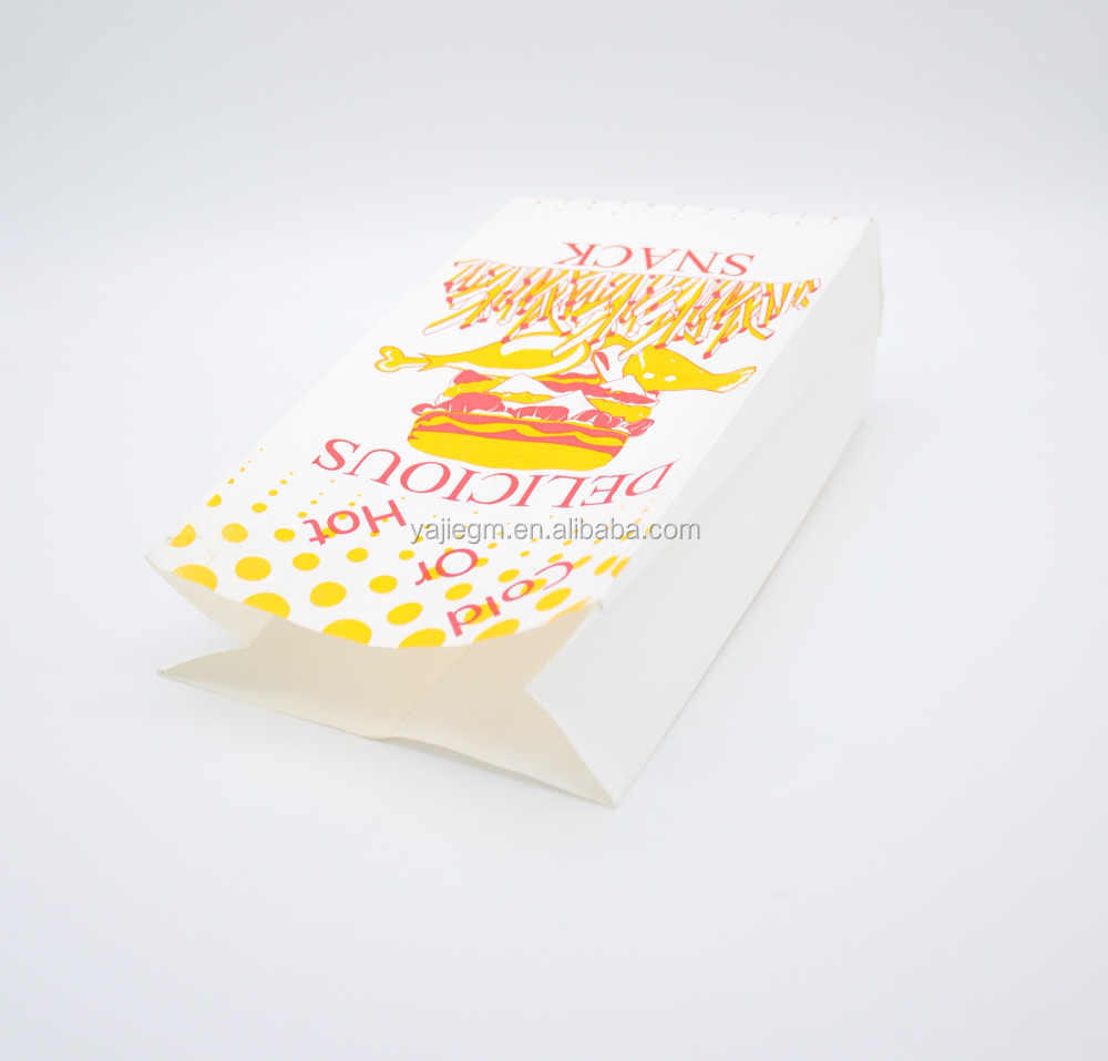 paper foil composite bag for chips hamburger food packaging