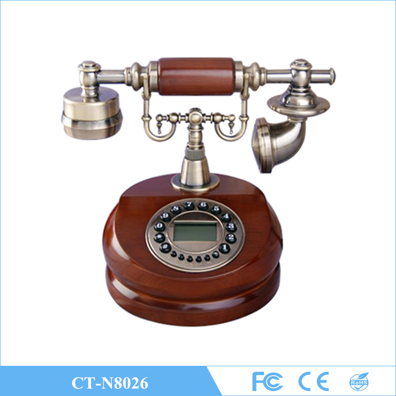 European style antique wooden telephone, retro fashion, creative home office phone