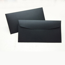 Custom A5 A6 A7 Size Letter Small Glitter Card Black Envelopes