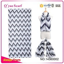 Chevron Wholesale Polyester Voile Lady Scarf Made In China