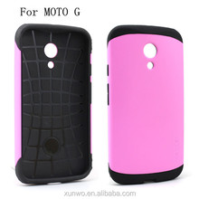 Factory direct sale fashion slim armor case for Motorola moto g shockproof combo cover