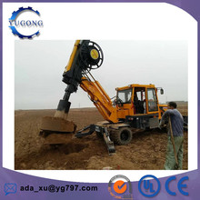 Hot sale Top quality high quality mall pile driving machine hydraulic bore pile fence post pile driver