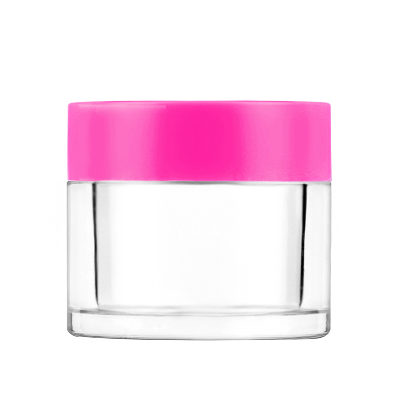 2oz dipping powder acrylic container with colored cap