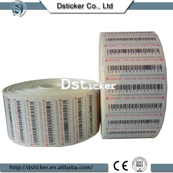 New Arrival Barcode Scanner Security Label with Trade Assurance