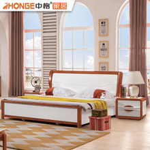 modern style bedroom wood furniture white design mdf double bed