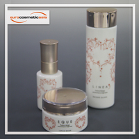 LINEA luxury Skin care body lotion high quality cosmetic 40ml 50ml 120ml OPAL GLASS Bottle and Jar