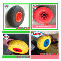 heavy duty rubber ball caster wheels 260x85 ice cream cart with wheels 3.00-4