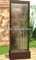 glass waterfall japanese screen room divider