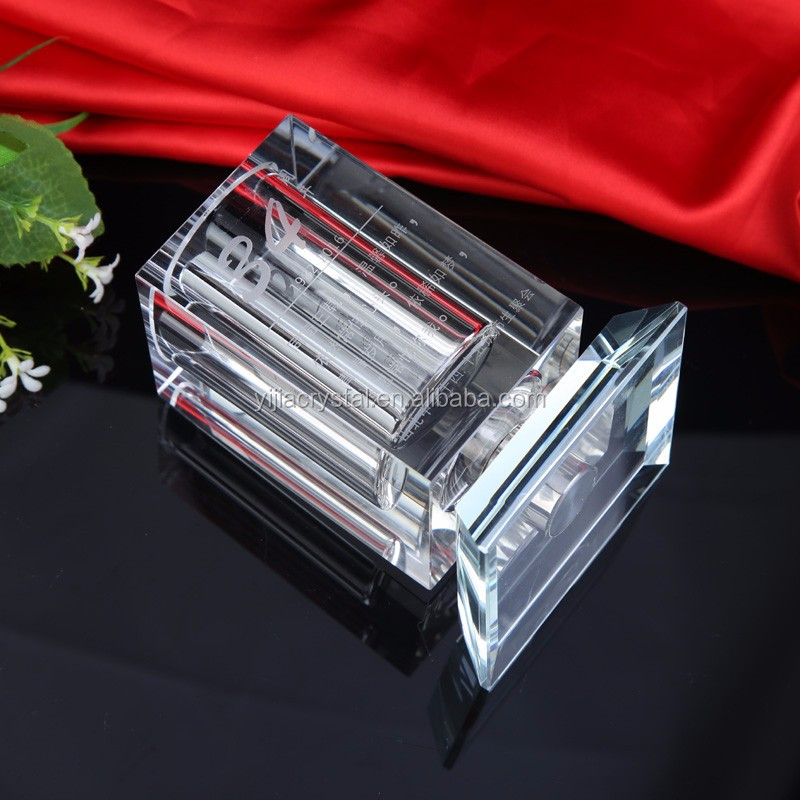 Fashion square crystal pen holder desktop furnishing articles for classmates